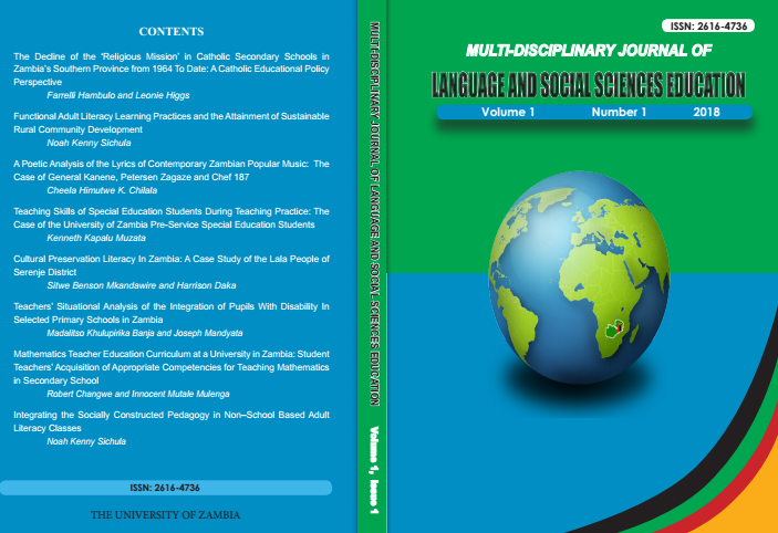Multidisciplinary Journal of Language and Social Sciences Education